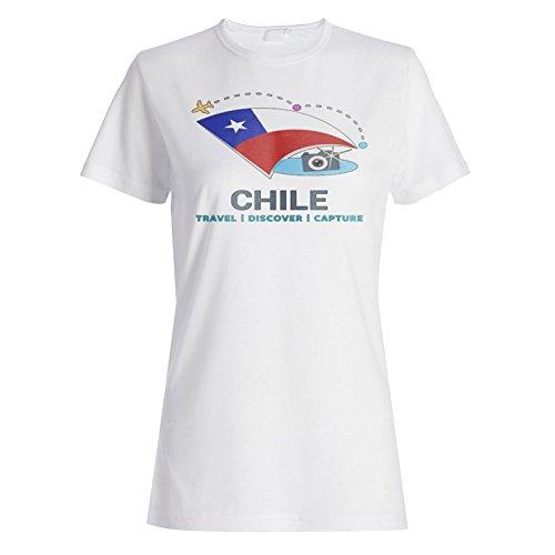 Neue Chile Reise Erfassen Damen T-shirt m417f