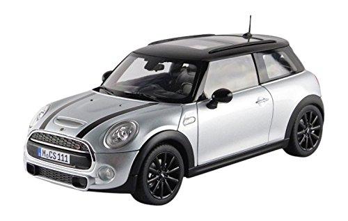 Norev 2015 Mini Cooper S Silver Metallic and Black 1/18 Diecast Model Car