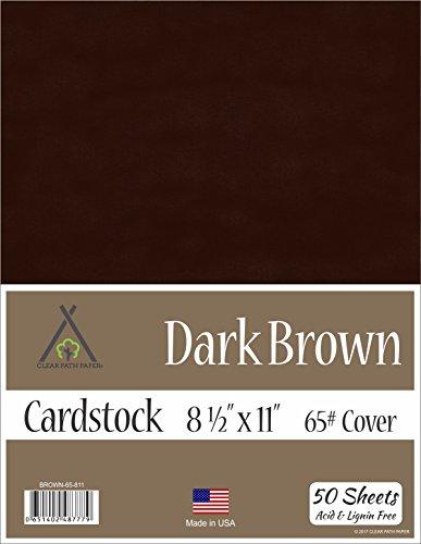 Dark Brown Cardstock - 8.5 x 11 inch - 65Lb Cover - 50 Sheets ()
