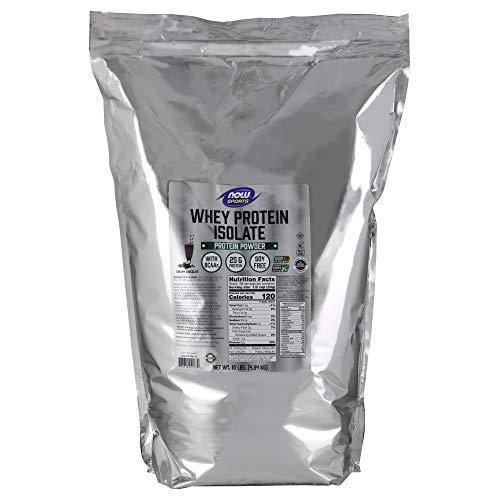 (Now Sports Nutrition, Whey Protein Isolate Powder, Creamy Chocolate, 10-Pound)