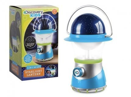 Discovery Kids Starlight Lantern ~ 2-IN-1 4X LED ~ LED Light and Star Projector in ONe