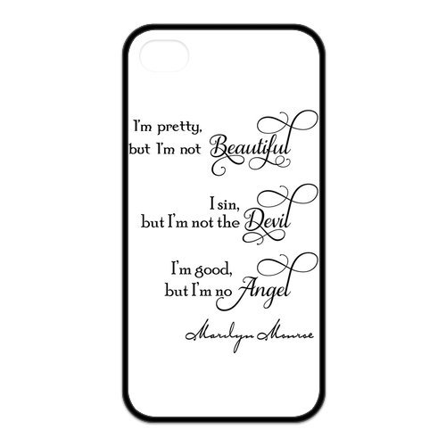 Fayruz- Marilyn Monroe Quotes Protective Hard TPU Rubber Cover Case for iPhone 4 / 4S Phone Cases A-i4K531