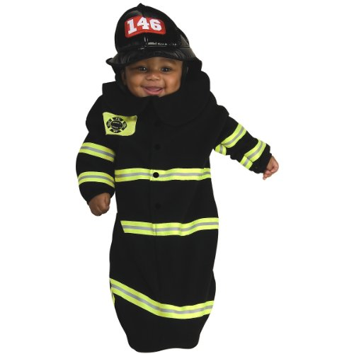 Rubie's Costume Deluxe Baby Bunting, Firefighter Costume,Multi,  0 to 9 Months (one size) (Deluxe Firefighter Costume)