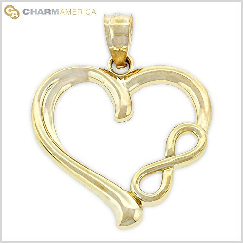 10k Gold Heart Charm - 8