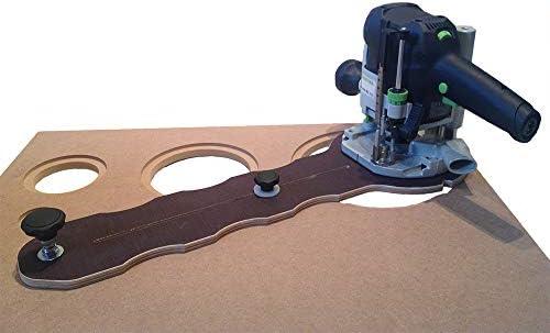 MC8002 - Compás de fresar para fresadora (orificio de círculos Ø: 3 - 76 cm, alta fidelidad, para muebles, universal ...