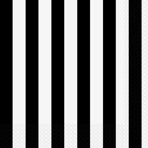 Black Striped Paper Napkins 16ct product image