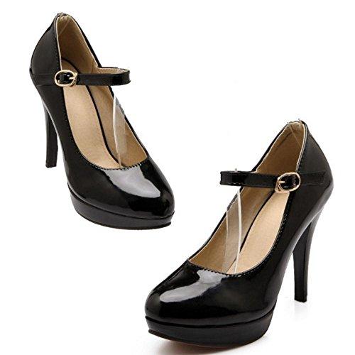 Scarpe Stiletto Black Jojonunu Elegant Donna wYPqAR