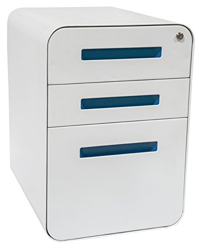 Stockpile File Cabinet (White/Light Blue)