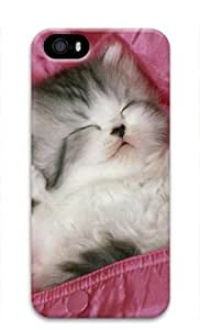 Cute Kitten is Sleeping Iphone 5 5S Hard Protective 3D Cover Case by Lilyshouse