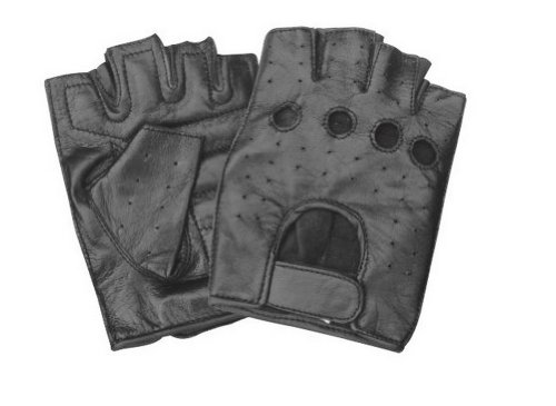 (Unisex Adult AL3009 Premium Fingerless glove Small Black )