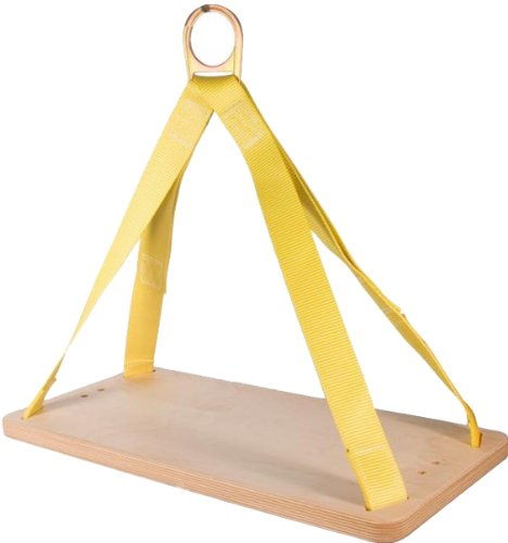 3M DBI-SALA 1001140 Workseat, with 12''x24''x1'' Rigid Board and Suspension D-Ring, Size Universal, Yellow by 3M Fall Protection Business (Image #2)