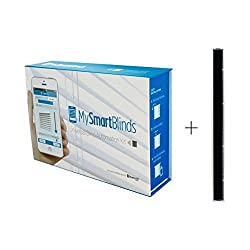 MySmartBlinds Automation Kit Bundle + Solar Panel (2 items) - Convert your existing horizontal blinds into automated blinds - Charge blinds' motor with solar energy …