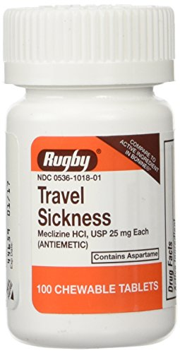 Rugby Travel Sickness, Tablets, 100 ea (Best Travel Sickness Tablets For Dogs)