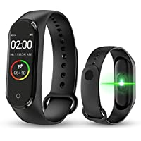 Woxxin M4 Smart Fitness Band,Activity Tracker | Bluetooth 4.2 | OLED Heart Rate Monitor, Health Activity, Smart Bracelet Wristband for All Android and iOS Smartphones (Black)