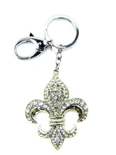 Fleur De Lis Rhinestone Metal Key Chain Ring Key - Lis Fleur De Key Ring