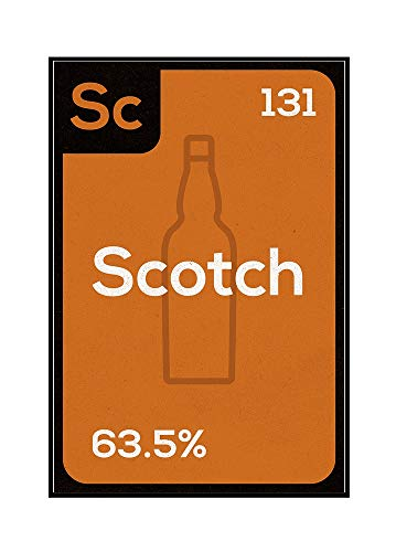 Periodic Drinks - Scotch (16x24 Framed Gallery Wrapped Stretched Canvas)