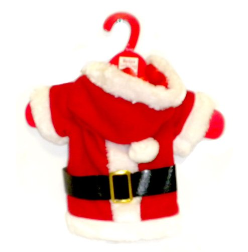 Santa Claus Solid Suit Outfit Costume for Dogs or Puppies (Large), My Pet Supplies