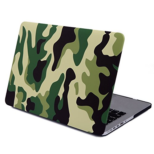 "UPC 700355858485, MacBook 13.3"" Pro Case [Retina], HDE Plastic Snap On Cover (Camo Green)"