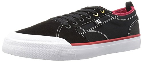 DC Mens Evan Smith TX Skate Shoe, Negro/Rojo/Blanco, 45.5 D(M) EU/11 D(M) UK