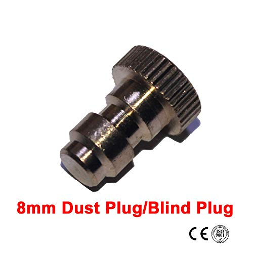 Outdoor Guy Paintball Airsoft PCP Connection Hex 8MM Quick Connect Male Dust Plug/Blind Plug X2 PCS