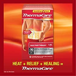 Thermacare Lower Back & Hip Heat Wraps, Large-xl, 9 Heatwraps