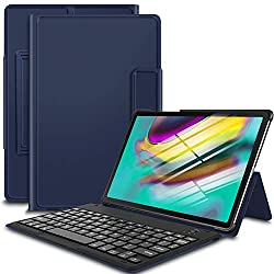 Bosewek Keyboard Case for Samsung Galaxy Tab S5e, Thin Cover Case with Attached Keyboard for Samsung Galaxy Tab S5e SM-T720(Wi-Fi) SM-T725(LTE) 10.5 inches 2019 Release Tablet (Blue)