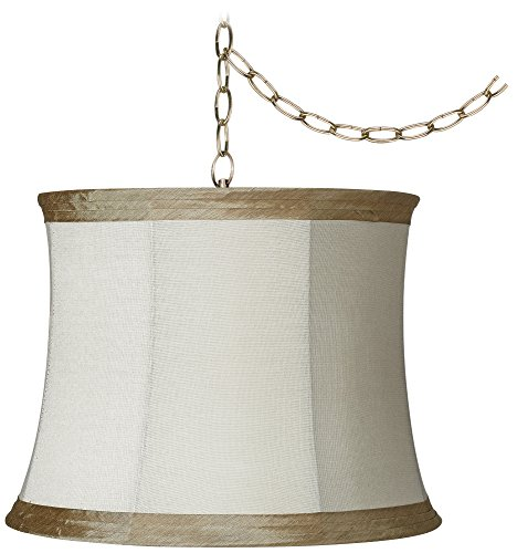 Antique Brass Plug-In Swag Chandelier (Traditional Swag)