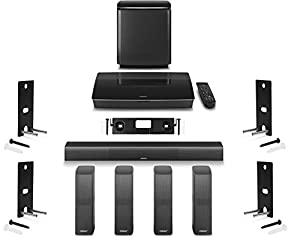 bose lifestyle 650 home system with wall brackets 1 omnijewel center channel bracket u0026 4 omnijewel wall brackets black