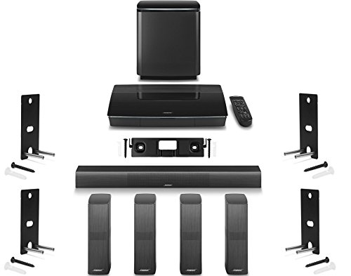Bose-Lifestyle-650-Home-Entertainment-System-with-Wall-Brackets-1-OmniJewel-Center-Channel-Bracket-4-OmniJewel-Wall-Brackets