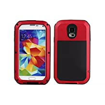 Samsung Galaxy S5 Aluminum Metal Case,[Military Heavy Duty]Extreme Waterproof Shock/Dust/Dirt/Snow Proof with Armoured Glass Protection Cover Case