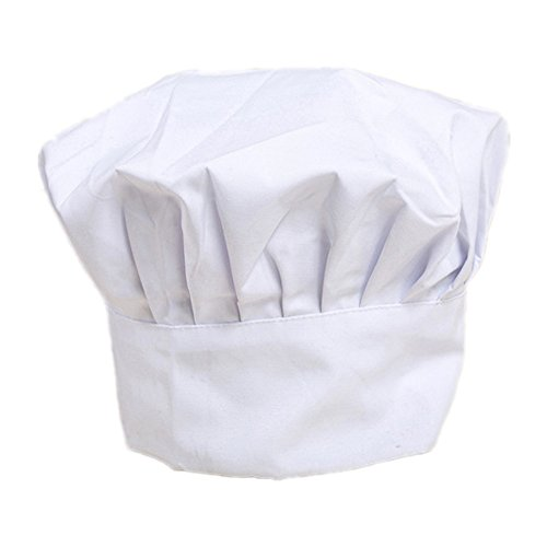 IROCH Chefs Hat Breathable Mesh Top Skull Cap,Chat Chef Hat Black Adjustable Size Head Circumference 21.6