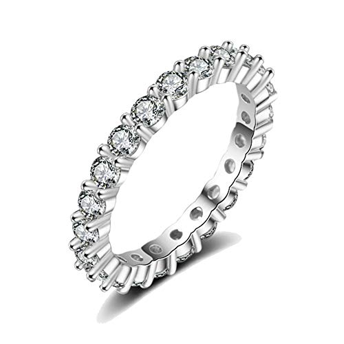 - CAIYCAI Crystal Silver Color Ring For Women Flower Love Heart Crown Finger Rings Cocktail Part Brand Ring Jewelry Dropshipping 46 46