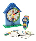 LEGO 9005008 Time Teacher Blue Kids Minifigure Link Buildable Watch, Constructible Clock and Activity Cards | blue/green | plastic | 28mm case diameter| analog quartz | boy girl | official for $64.95.