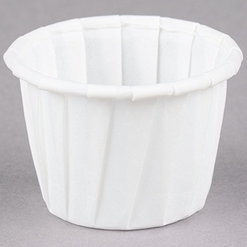 Dart Solo 075 .75 oz. White Paper Souffle / Portion Cup - 250/Pack