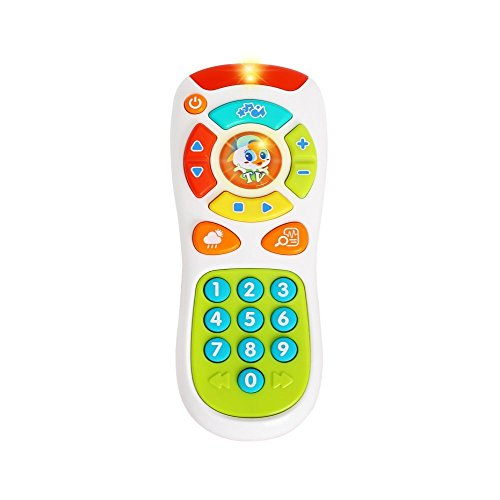 VATOS Baby TV Remote Control Toy, Baby Toys, Learning Remote Toy with Light Music for 6 Months + Baby, Learning Toys for…