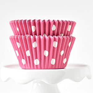 Dot Pink BakeBright Greaseproof Cupcake Liners