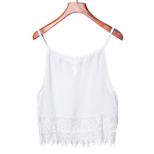 XUANOU Women Lace Splicing Camisole Sleeveless Tank Tops T-Shirt (Design Camisole)