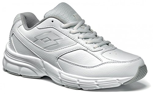 Lotto Antares IX LTH W, Zapatillas de Running para Mujer, Blanco / Plateado (Wht / Slv Mt), 39 EU
