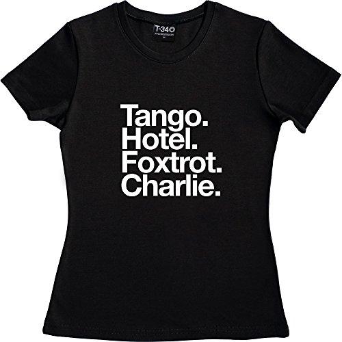 T34 - Camiseta - Mujer Black Women's T-Shirt