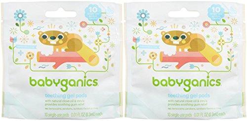 Babyganics Benzocaine Free Gel Teething Pods - .3 ml - 10 ct - 2 pk