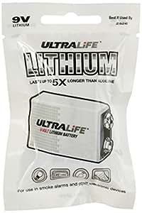 Ultralife U9VL-JPFP6 batería no-recargable - Pilas (Litio, Prismatic, 9 V, 9V, 1050 mAh, 10 Año(s)) Blanco