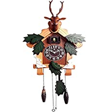 Vintage Wall Clock Movement Wooden House-Style Authentic Black Forest Cuckoo Clock, Capable of 1 Day Movement