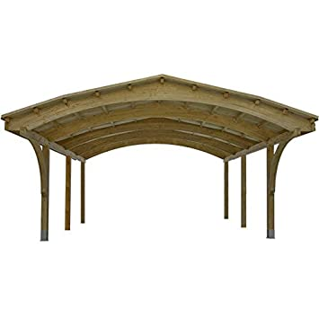 Liveoutside Nevada Double Wooden Carport Black Or Green Felt