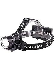 WESLITE XHP90 Led-hoofdlamp, oplaadbaar, extreem heldere led-hoofdlamp met COB-licht, outdoor koplamp, USB-hoofdlampen, IPX4 waterdicht, 4 modi, zoombaar, voor kamperen, vissen, wandelen