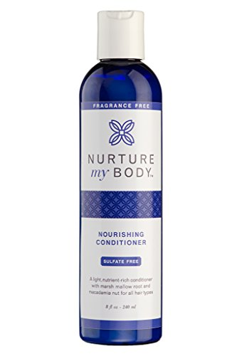 Organic Conditioner for All Hair Types from Nurture My Body - 100% All Natural and Organic - Sulfate and Chemical Free (Fragrance Free)