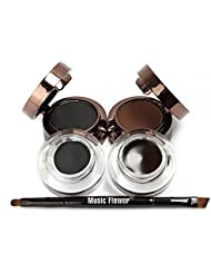 4 in 1 Gel Eyeliner and Eyebrow Powder Kit Brown Black Water-proof with Eye Liner Brush