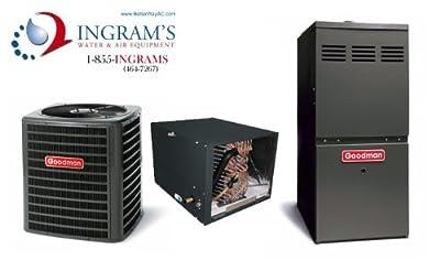 Goodman R410A 13 SEER Complete Split System AC & Gas 4 Ton GSX130481, CHPF4860D6, GMH80805CN
