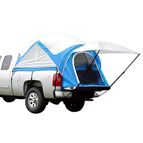 Peaktop Outdoor Upgraded 2019 Truck Tents for Mid Size Truck Bed Tent Inner&Outer 2 in 1 (Blue) ()