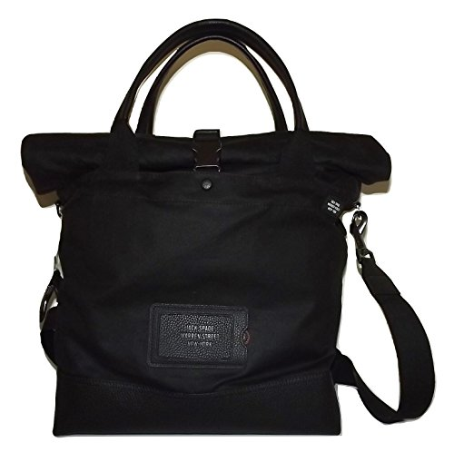 Jack Spade Men's Waxwear Canvas Unknown Cargo Tote Laptop Bag Black ()