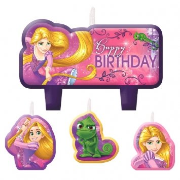 Amscan 171627 Tangled Birthday Candles, 2 1/3